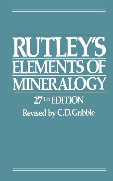 Rutley's Elements of Mineralogy - Coverbild