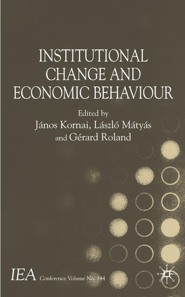 Institutional Change and Economic Behaviour - Coverbild
