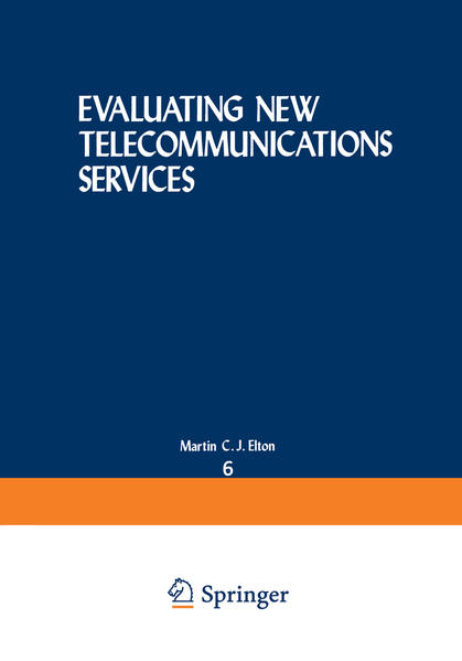 Evaluating New Telecommunications Services - Coverbild