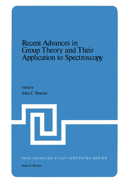 Recent Advances in Group Theory and Their Application to Spectroscopy - Coverbild