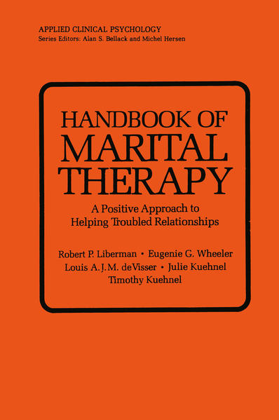 Handbook of Marital Therapy: A Positive Approach to Helping Troubled Relationships - Coverbild