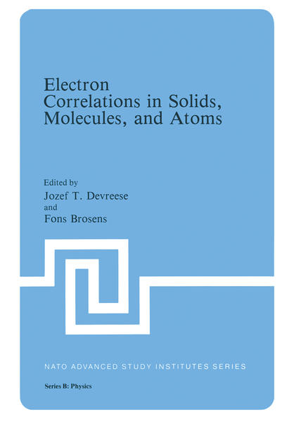 Electron Correlations in Solids, Molecules, and Atoms - Coverbild
