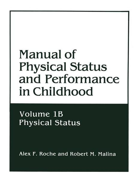 Manual of Physical Status and Performance in Childhood - Coverbild