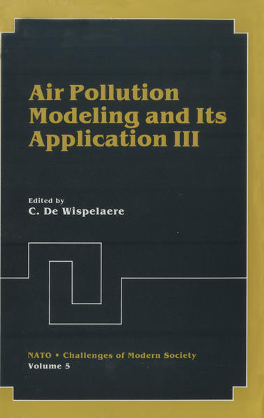 Air Pollution Modeling and Its Application III - Coverbild