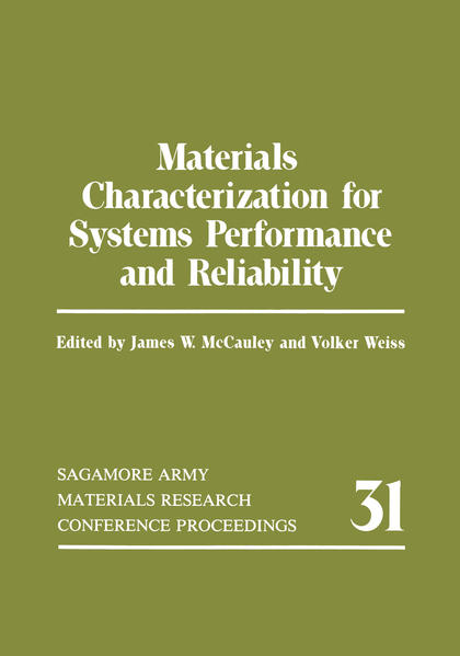 Materials Characterization for Systems Performance and Reliability - Coverbild
