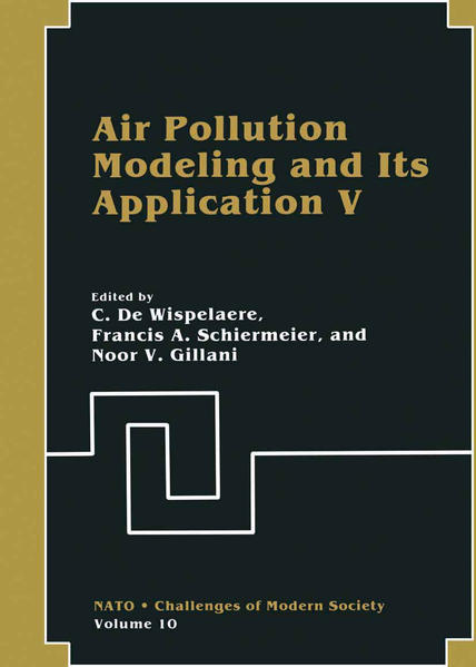 Air Pollution Modeling and Its Application V - Coverbild
