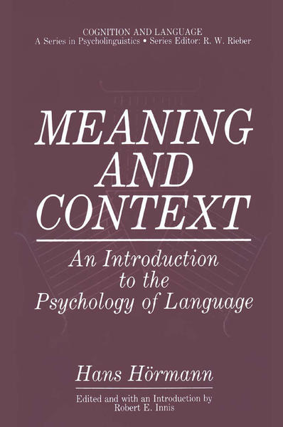 Meaning and Context - Coverbild