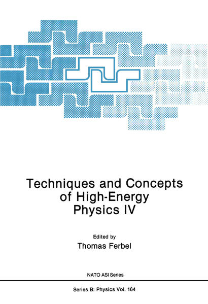 Techniques and Concepts of High-Energy Physics IV - Coverbild