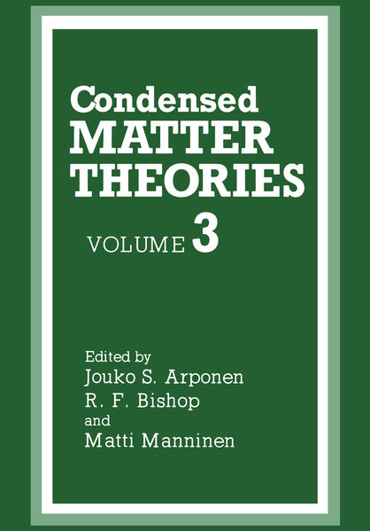 Condensed Matter Theories - Coverbild