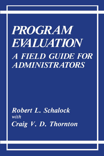 Program Evaluation - Coverbild