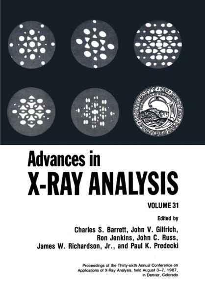 Advances in X-Ray Analysis - Coverbild