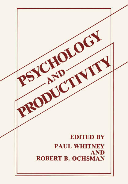 Psychology and Productivity - Coverbild
