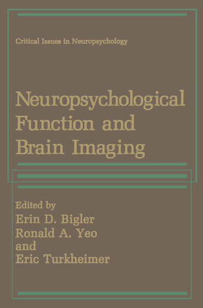 Neuropsychological Function and Brain Imaging - Coverbild