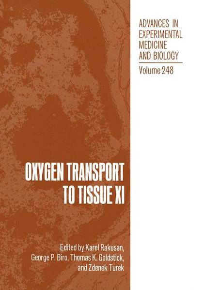 Oxygen Transport to Tissue XI - Coverbild