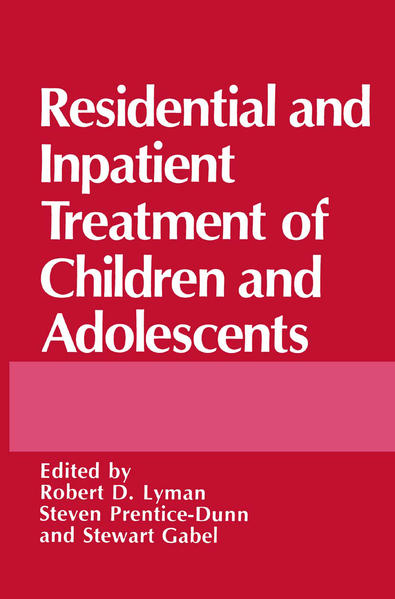 Residential and Inpatient Treatment of Children and Adolescents - Coverbild
