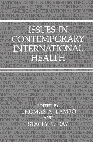 Issues in Contemporary International Health - Coverbild
