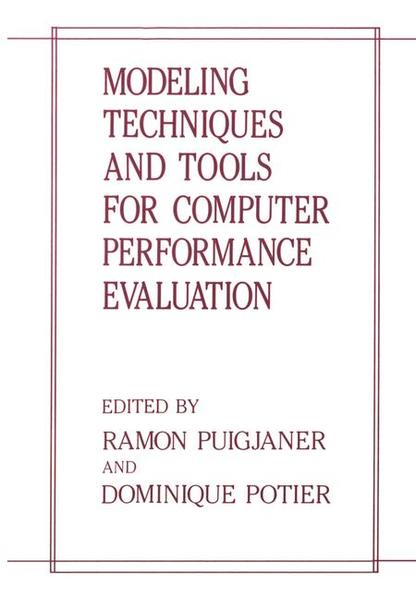 Modeling Techniques and Tools for Computer Performance Evaluation - Coverbild