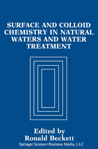 Surface and Colloid Chemistry in Natural Waters and Water Treatment - Coverbild