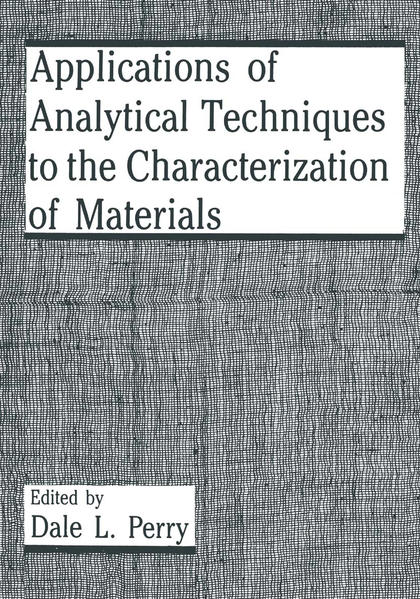 Applications of Analytical Techniques to the Characterization of Materials - Coverbild
