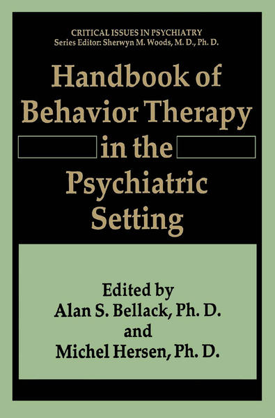Handbook of Behavior Therapy in the Psychiatric Setting - Coverbild