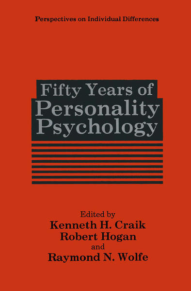 Fifty Years of Personality Psychology - Coverbild