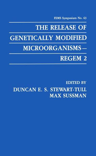 The Release of Genetically Modified Microorganisms—REGEM 2 - Coverbild