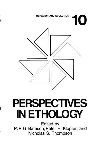 Perspectives in Ethology - Coverbild