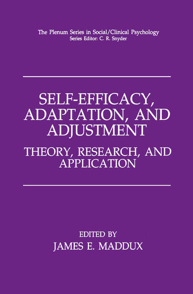 Self-Efficacy, Adaptation, and Adjustment - Coverbild
