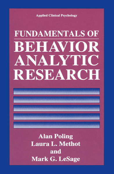 Fundamentals of Behavior Analytic Research - Coverbild
