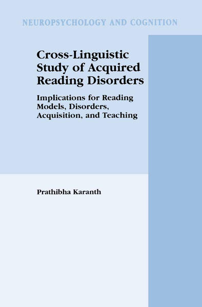 Cross-Linguistic Study of Acquired Reading Disorders - Coverbild
