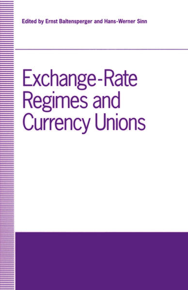 Exchange-Rate Regimes and Currency Unions - Coverbild