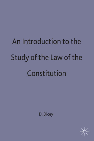 An Introduction to the Study of the Law of the Constitution - Coverbild