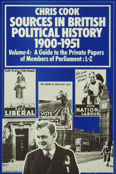 Sources in British Political History 1900–1951 - Coverbild