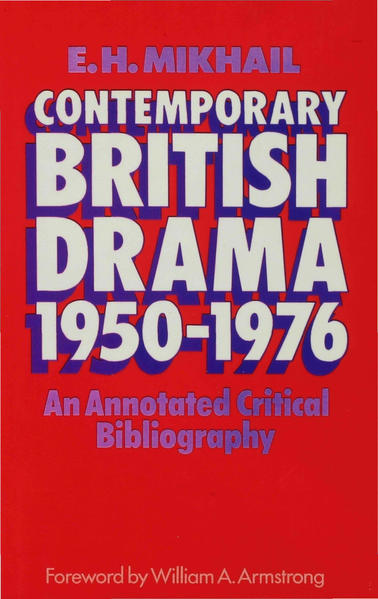 Contemporary British Drama 1950–1976 - Coverbild