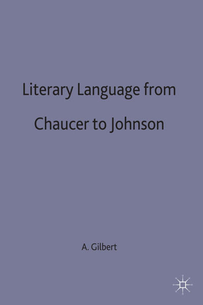 Literary Language From Chaucer to Johnson - Coverbild