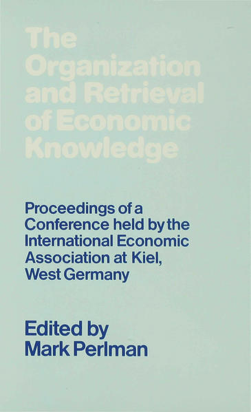 The Organization and Retrieval of Economic Knowledge - Coverbild