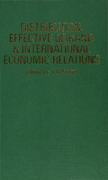 Distribution, Effective Demand and International Economic Relations - Coverbild