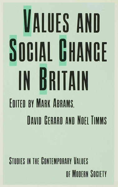 Values and Social Change in Britain - Coverbild