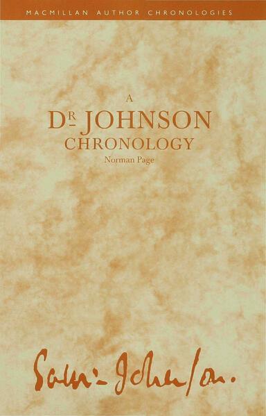 A Dr Johnson Chronology - Coverbild