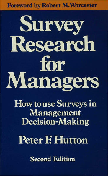 Survey Research for Managers - Coverbild