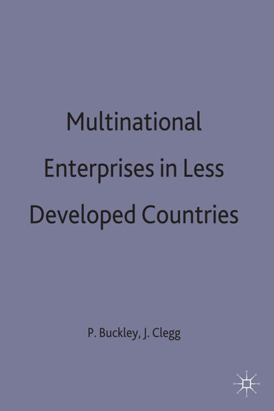 Multinational Enterprises in Less Developed Countries - Coverbild