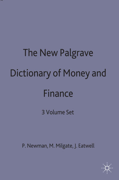 The New Palgrave Dictionary of Money and Finance - Coverbild