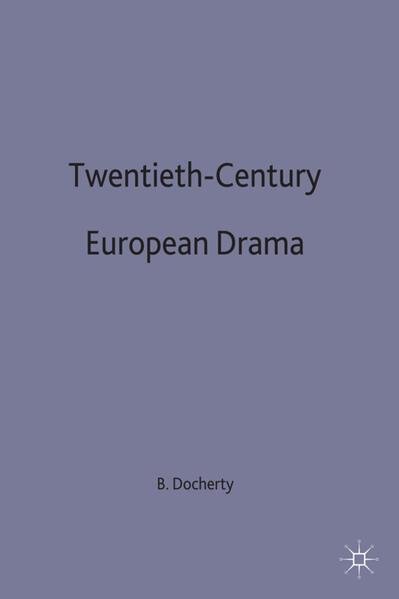Twentieth-Century European Drama - Coverbild