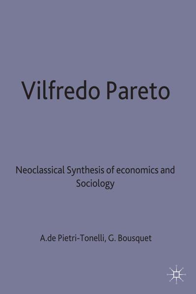 Vilfredo Pareto - Coverbild
