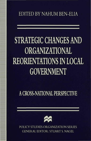 Strategic Changes and Organizational Reorientations in Local Government - Coverbild