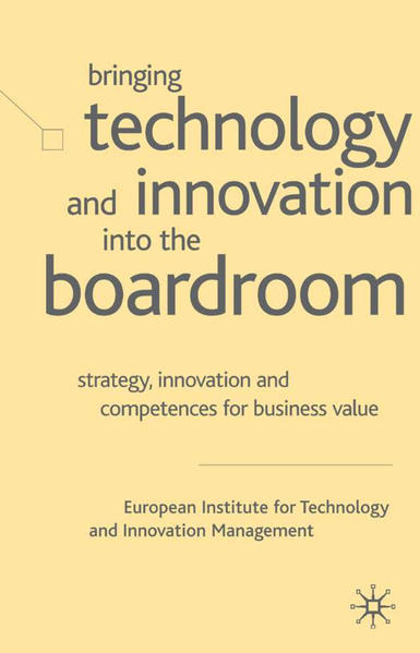 Bringing Technology and Innovation into the Boardroom - Coverbild