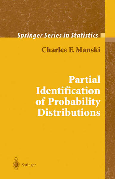 Partial Identification of Probability Distributions - Coverbild