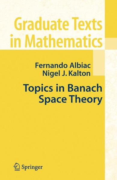 Topics in Banach Space Theory - Coverbild