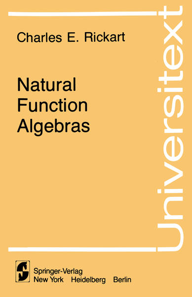 Natural Function Algebras - Coverbild