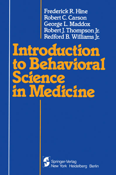 Introduction to Behavioral Science in Medicine - Coverbild